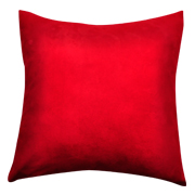 Suede Cushion Cover B Medium Red