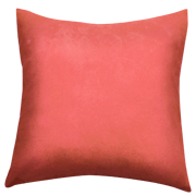 Suede Cushion Cover Big Coral Pink