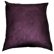 Suede Cushion Cover Big Plum
