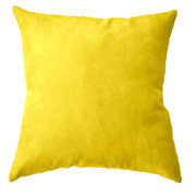 Suede Cushion Cover Big Yellow