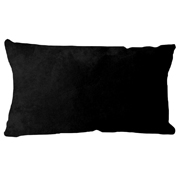 Suede Cushion Cover Rectangle Black