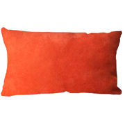 Suede Cushion Cover Rectangle Orange