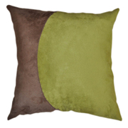 Suede Cushion Cover Stone and Green