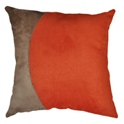 Suede Cushion Cover Stone and Orange