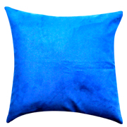 Suede Cushion Cover Electric Blue