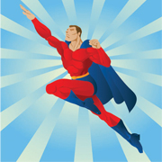 Superhero Lycra Panel F