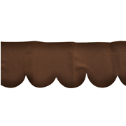 Table Top Kiosk Canopy Scallop Brown