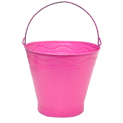 Tin Bucket Extra Large Pink Assorted
