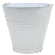 Tin Bucket Small White