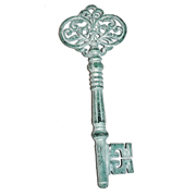 Vintage Metal Key Medium