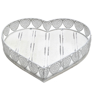 Wood and Metal Heart Tray