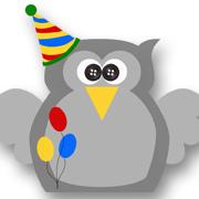 Birthday Owl Gey