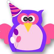 Birthday Owl Purple