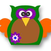 Flower Power Owl Green