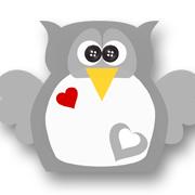 Heart Owl Grey