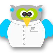 Mad Scientist Owl Blue