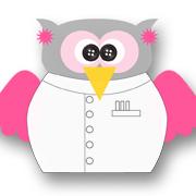Mad Scientist Owl Pink