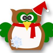 Snowflake Christmas Owl Brown